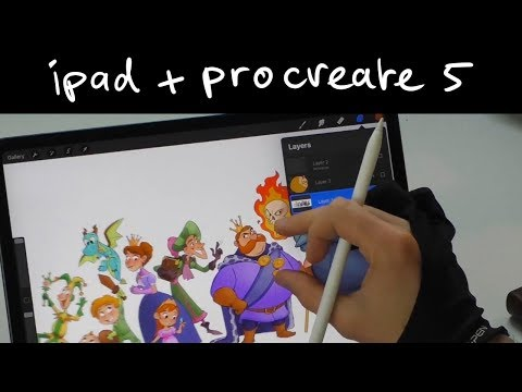 First impression on the ipad pro and procreate 5