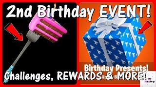 *NEW* Fortnite 2nd BIRTHDAY EVENT! (Challenges, FREE Rewards & Leaks)