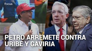 Gustavo Petro lanza duras críticas a Álvaro Uribe, Cesar Gaviria y el partido Liberal