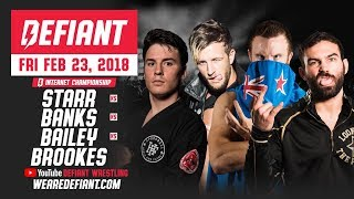 Defiant Wrestling #10: 4-Way Internet Title Match + Much More thumbnail