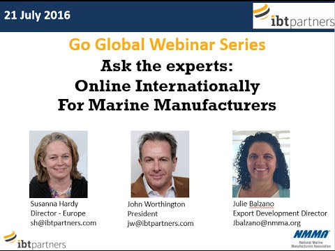 Go Global Webinar: Online Internationally for Marine Manufacturers