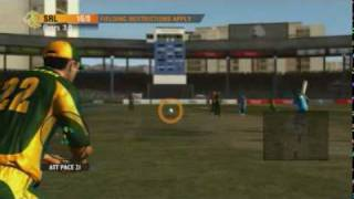 New International Cricket 2010 gameplay video with Jonathan Agnew