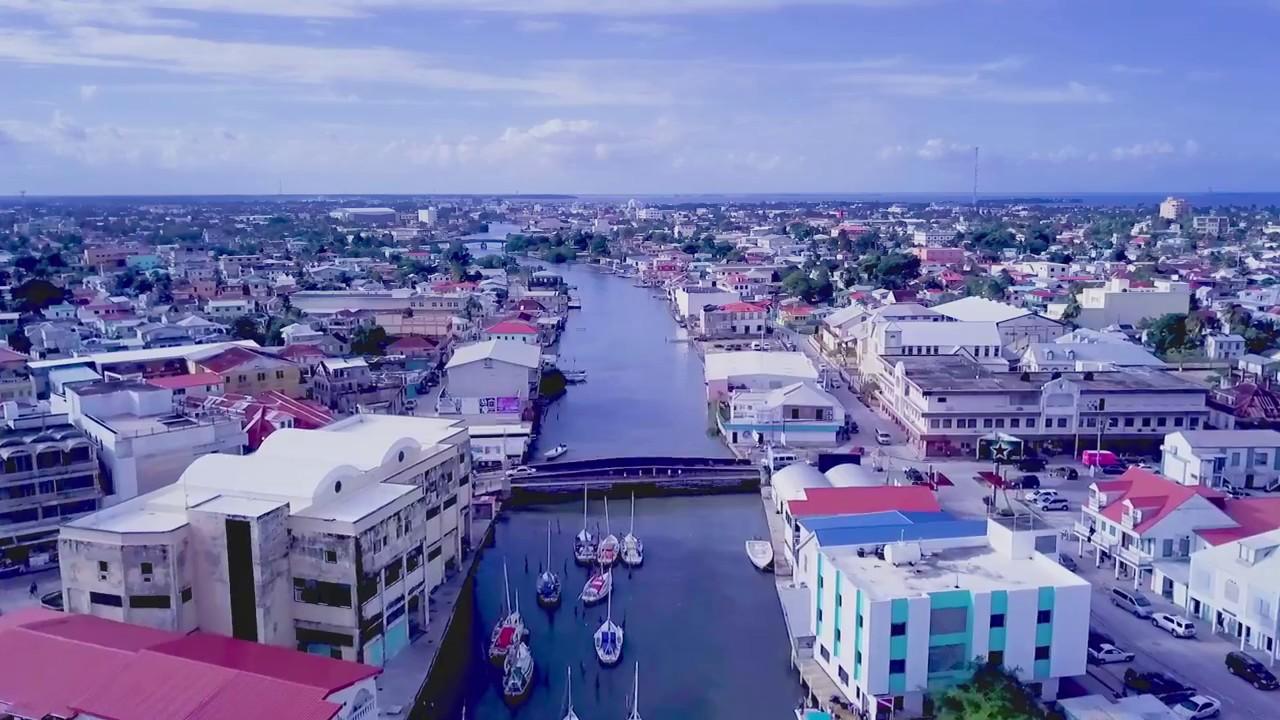 bahia de ciudad de belice y el canal