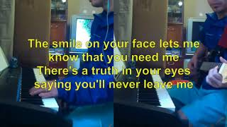 When you say nothing at all by Alison Krauss semi live karaoke
