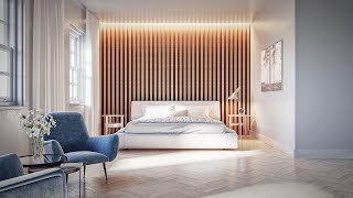 3dsmax Modern Bedroom Render (Best Tutorial)