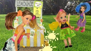 annia and elsia toddlers lemonade stand jessica and emily barbie chelsea dolls and toys