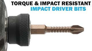 Impact Driver Bits - Long Lasting Bits for High Torque Jobs  | Fasteners 101