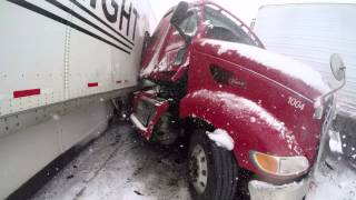Interstate 80 Wyoming multi car and truck accident