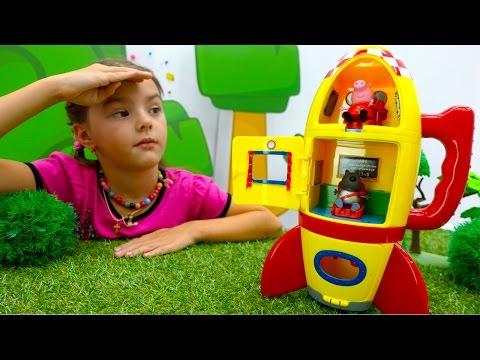 Свинка Пеппа на русском Джордж шалун видео с игрушками игры для детей
