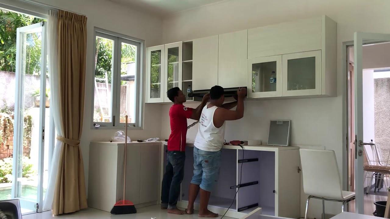 Kitchen set sederhana finishing hpl ukuran 25x14 meter