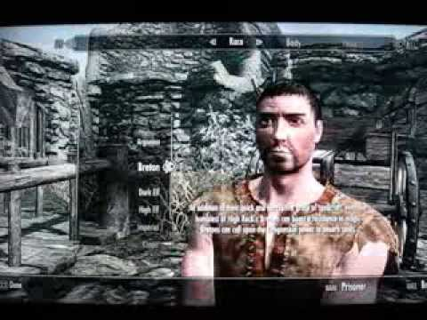 how to change race in skyrim ps3