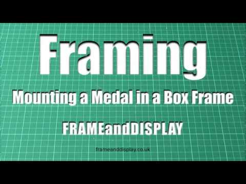 How to mount a medal in a small box frame