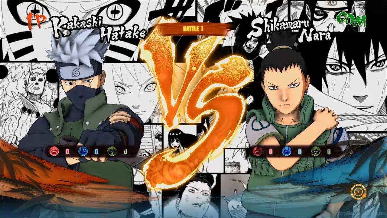 Kakashi Hatake (Road to Boruto) VS Shikamaru (Chunin ... Naruto Road To Ninja Shikamaru
