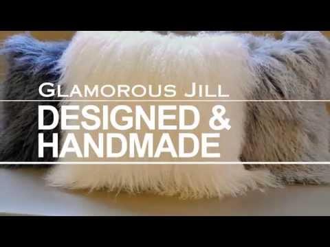 GLAMOROUS JILL HOME DECOR Mongolian Lamb Fur Cushions