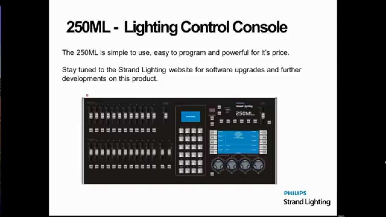 250ml Strand Lighting Console Overview