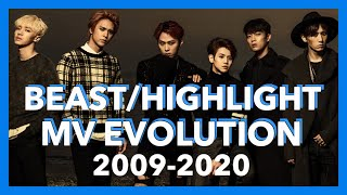 BEAST/HIGHLIGHT(비스트/하이라이트) MV Evolution 2009-2020