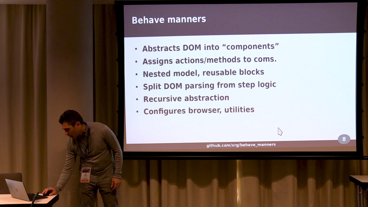Image from PyCon Ireland 2019 - Automated Web-UI testing with behave-manners - Panos Christeas