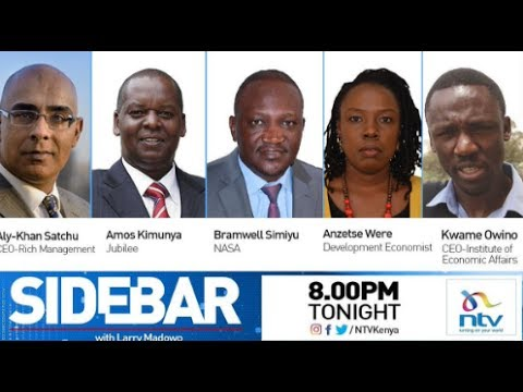 Sidebar panel discusses the future of the Kenyan economy