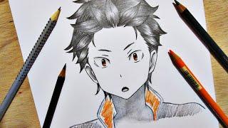 Drawing Subaru Natsuki    Re:Zero kara Hajimeru Isekai Seikatsu Re:ゼロから始める異世界生活