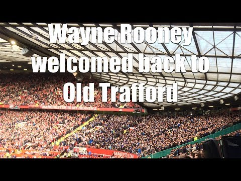 Team announcements at Old Trafford as Wayne Rooney returns with Everton