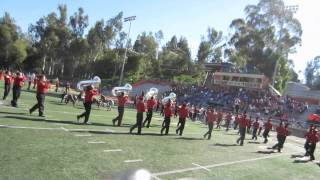 PDHS Marching Aztecs performing at the RCC Big Orange Classic - 11/8/14