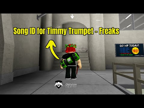 Roblox Song Id For Timmy Trumpet Freaks Roblox Youtube
