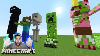 Minecraft XXL ENDERMAN, ZOMBIE, CREEPER LUCKY BLOCK BATTLE! Kaan reagiert auf riesige Kreaturen!