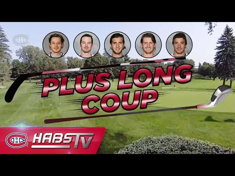 Habs tee off in a longest drive contest
