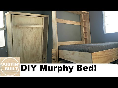 DIY Murphy Bed without expensive hardware!