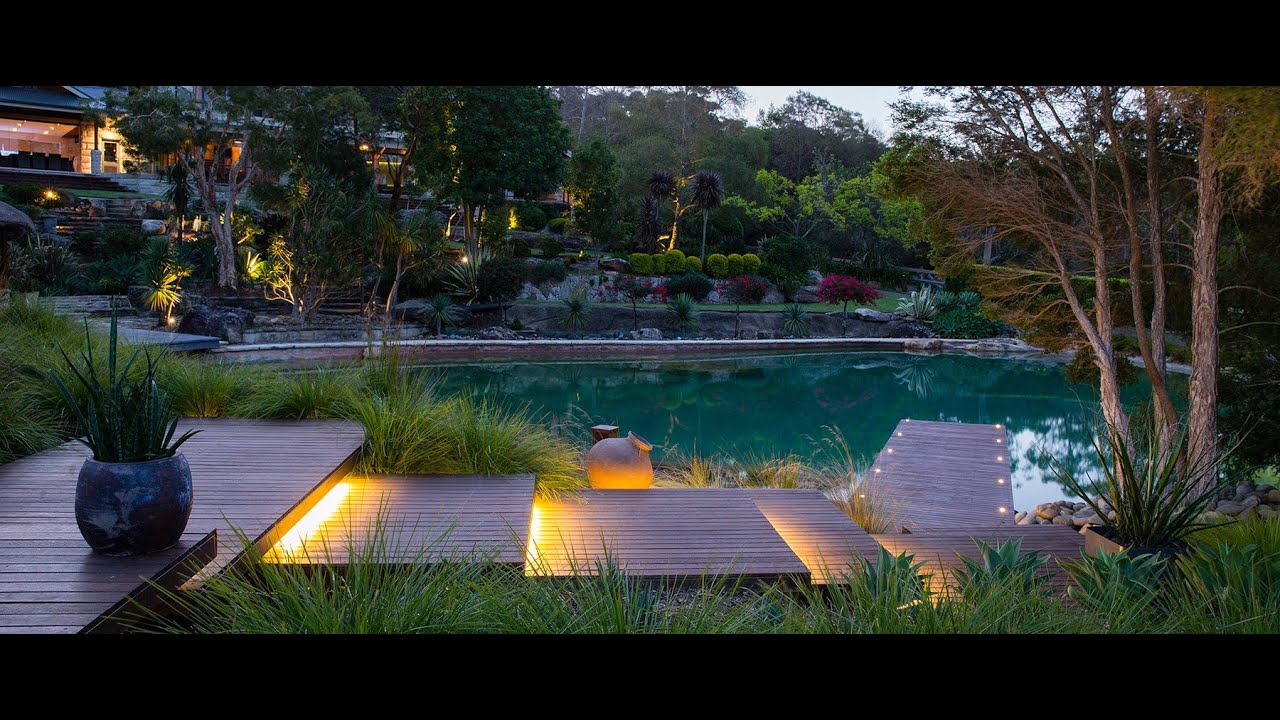 Native look modern garden landscape design idea youtube for Home garden landscape designs