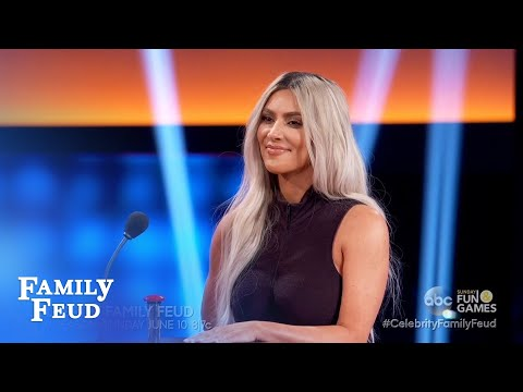 Kim Vs Khloe! Let the trash talking begin! | Celebrity Family Feud