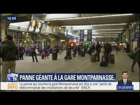Trafic interrompu gare Montparnasse en raison d'une panne technique