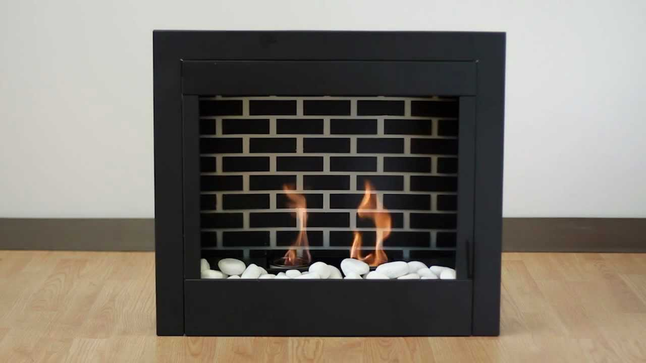 gel fuel indoor fireplace insert youtube