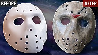 Painting and Weathering a Jason X Friday The 13th Hockey Mask