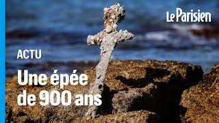 L'épée d'un chevalier datant des croisades retrouvée par un plongeur en Israël