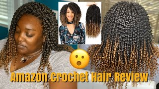 Amazon Hair Review AISI Beauty Curly Crochet |Traditional Crochet Demo