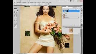 фотошоп урок по изменению оттенка лица в шаблоне