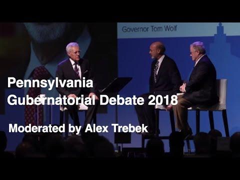 PA Governor Race highlights: 'Jeopardy!' host Alex Trebek moderates Gov. Tom Wolf and Scott Wagner