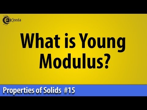 What is Young's Modulus - Properties of Solid - Basic Physics - MSBTE   Ekeeda.com