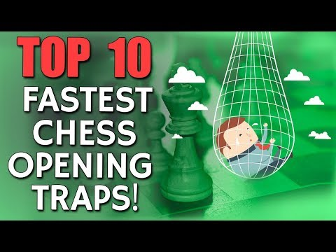 10 Fastest Chess Opening Traps with FM Sebastian Fell
