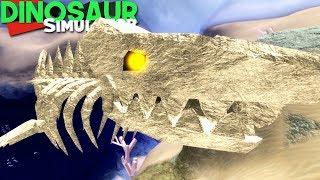 Dinosaur Simulator (Roblox) - Fossil C. Megalodon, Todas as Partes da Skin! | (#121) (Gameplay)
