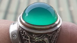 Bacan Stone Ring - The Best Agate Stone From Indonesia