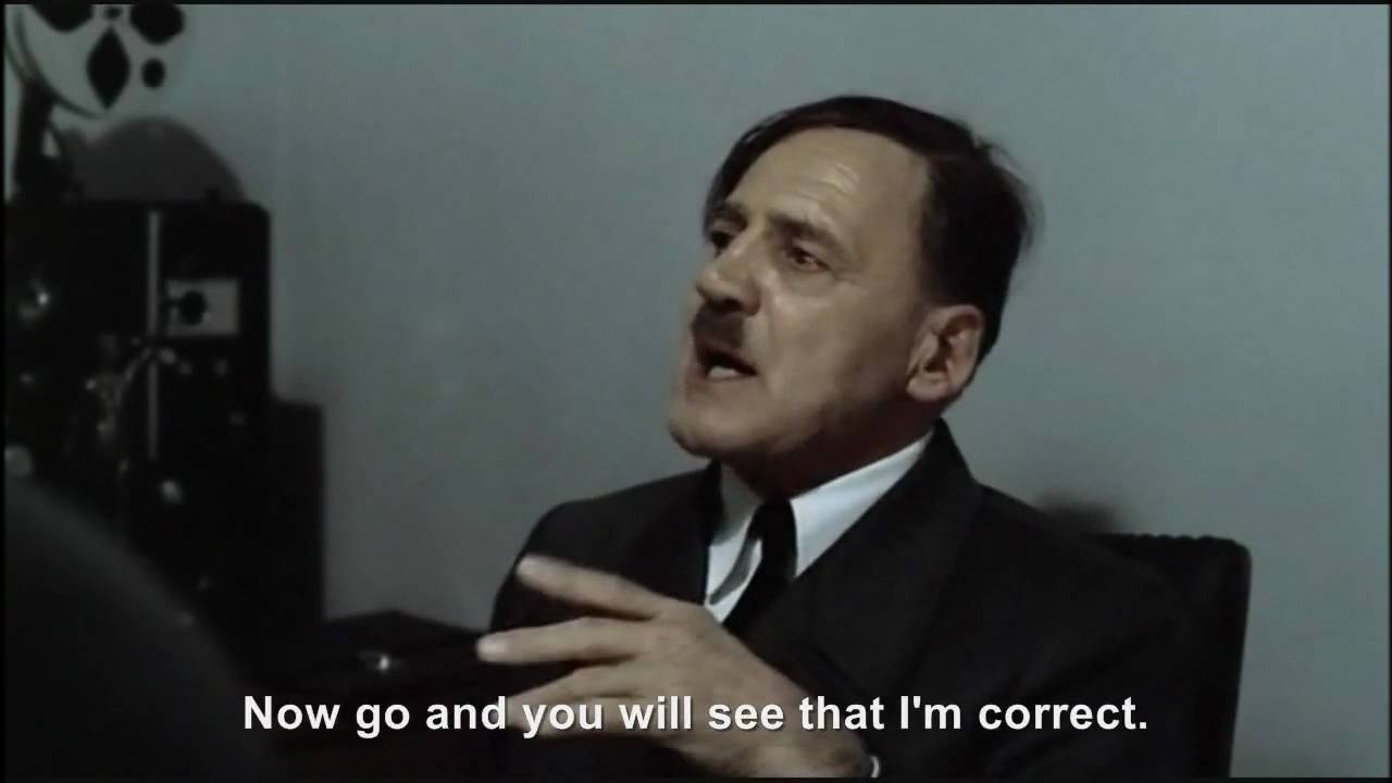 Hitler is informed hitlerrantsparodies was not axed and Fegelein is alive