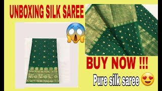 Latest chanderi Silk saree /Unboxing Silk Saree / Unboxing / Silk Saree Unboxing and Review