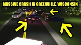 CRAZY MAJOR CRASH!! BUT EMS SAVES THE DAY! | Roblox UGVRP