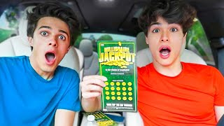 WINNING THE LOTTERY PRANK ON FRIENDS!!
