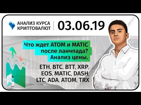 Что ждет ATOM и MATIC после лаунчпада? Анализ цены. Прогноз Криптовалюты. 03.06.2019.