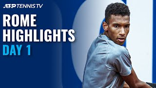 Auger-Aliassime, Goffin & Gasquet Look To Progress | Rome 2021 Day 1 Highlights