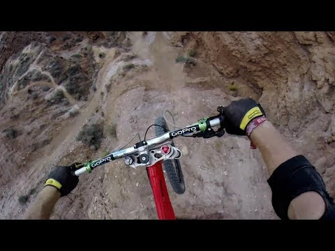 Kelly McGarry's 72ft Canyon Gap POV – Red Bull Rampage 2013