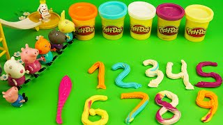 Peppa Pig Kinder Surprise Eggs Play Doh 1234 Preschool Babies Movies for Kids New Episodes 2014